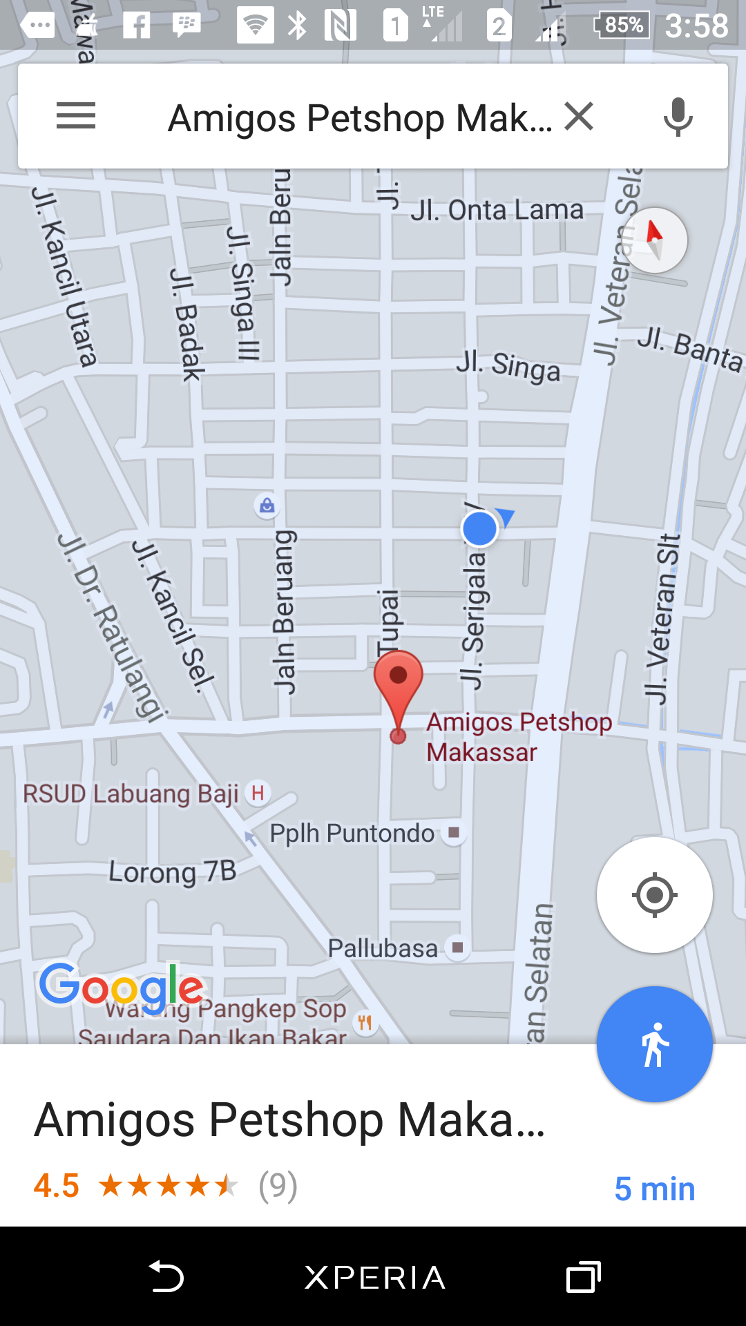 Map Amigos Petshop Makassar