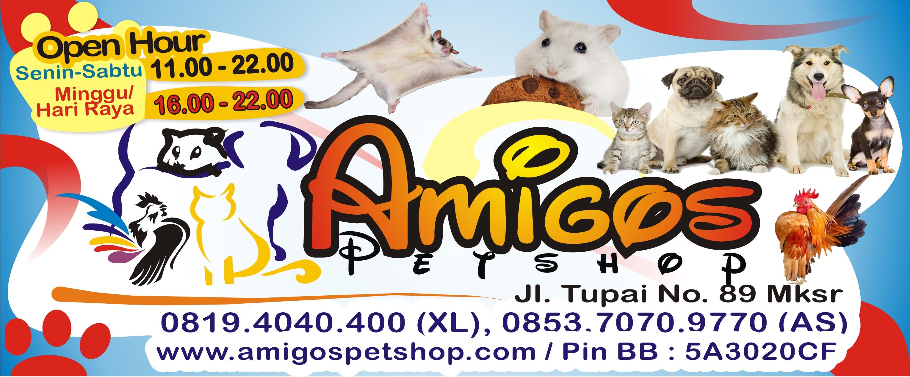 Spanduk Amigos Petshop Mmakassar